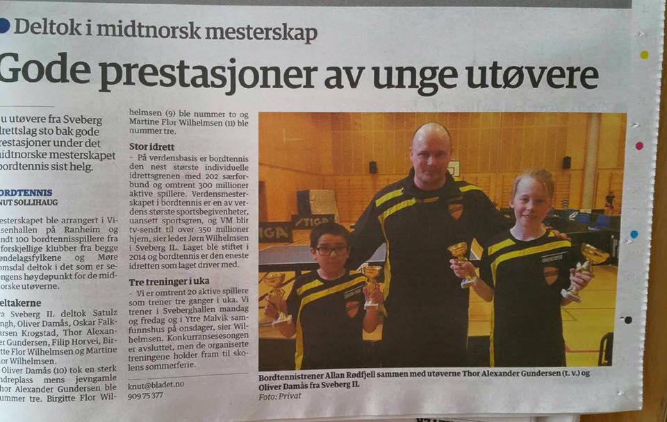 Sveberg IL i Malvikbladet
